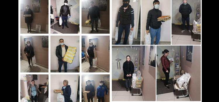 Продолжается акция «Помоги ближнему», только за один день были розданы 14 продуктовых наборов, памперсы и одежда
