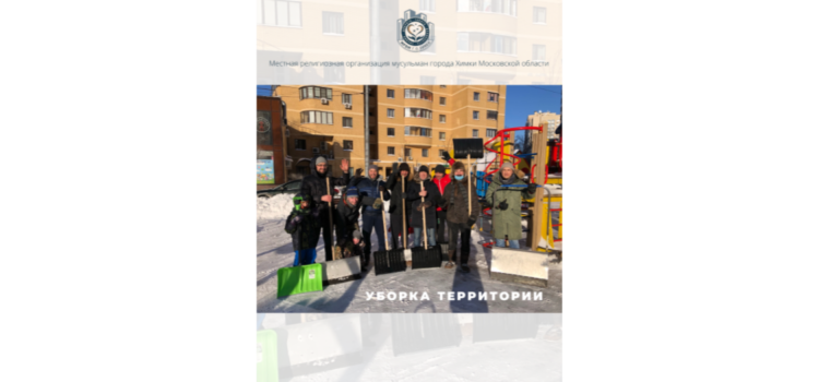 Активисты МРОМ г.о.Химки расчистили придомовую территорию и детскую площадку от снега