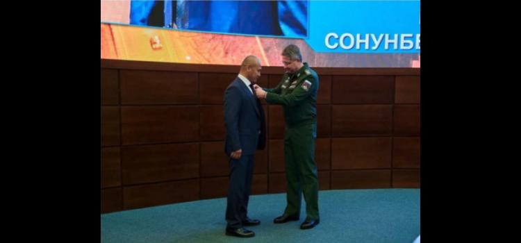 Награждение Сонунбека Касымовича Шерова награждён Медалью ордена «За заслуги перед Отечеством II степени»